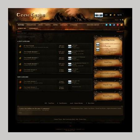 Бесплатно скачать Шаблон для форума IPB Diablo 3 Vanguard v2